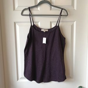 BNWT Purple Lace XL LOFT Soft Tank Top.